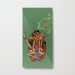 Cockroach all dressed up and ready to go paint the town Metal Print