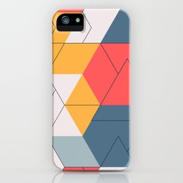 Geometric colors and lines pattern iPhone Case