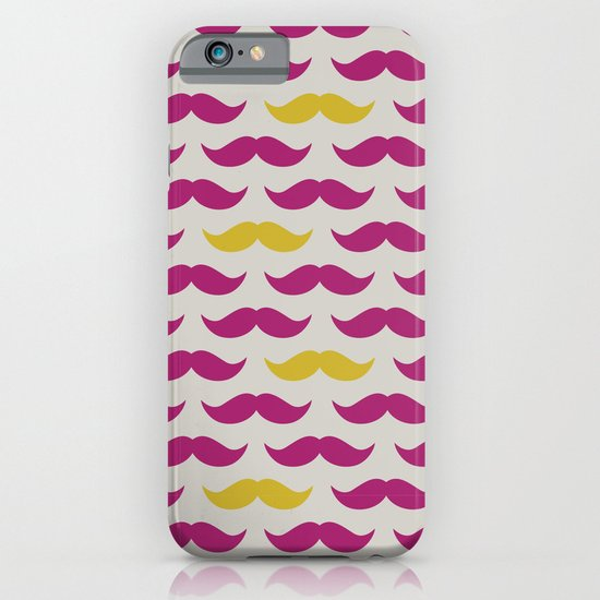 Mustache pattern iPhone & iPod Case