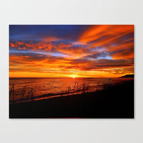 Spectacular Sunrise on the Saint-Lawrence Canvas Print