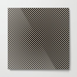 Black and Frosted Almond Polka Dots Metal Print