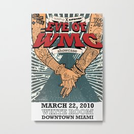 Subdrive Miami Showcase WMC 2010 Poster Metal Print
