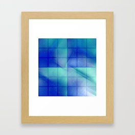 Blue shadows Framed Art Print