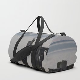 seagull perched Duffle Bag