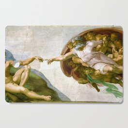 The Creation of Adam Painting by Michelangelo Sistine Chapel Cutting Board