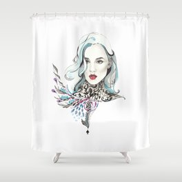 Astrid Berges-Frisbey Shower Curtain