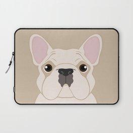 Frenchie - Cream Laptop Sleeve