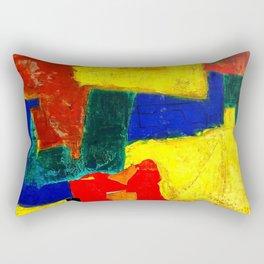 Equilibrium - Balance -Öl auf Leinwand Rectangular Pillow