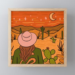 Desert Girl Framed Mini Art Print