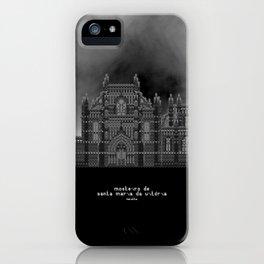 HexArchi - Portugal, Batalha, Mosteiro de Santa Maria da Vitória . Igreja e Capela do Fundador iPhone Case