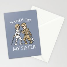 Hands Off My Sister Stationery Cards