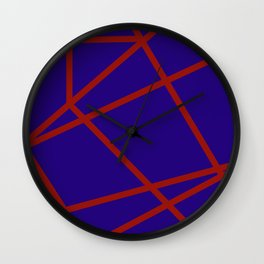Lost In Another Dimension - Blue Wall Clock