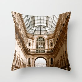 Galleria Vittorio Emanuel II in Milan, Italy | Fine Art Travel Photography | Europe Throw Pillow