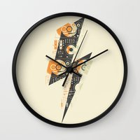 paramore Wall Clocks featuring Dj's Lightning by Sitchko Igor
