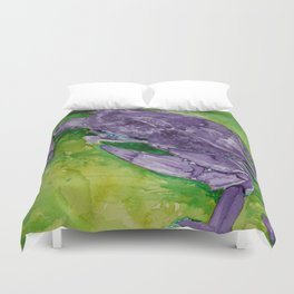 Purple Crab Duvet Cover