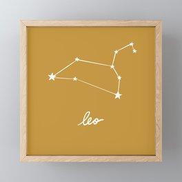 Leo - Zodiac Constellation Framed Mini Art Print