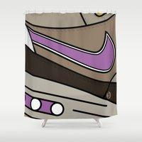 nike Shower Curtains featuring SNEAKERPILLOW - NIKE AIR MAX ONE VIOTECH by SNEAKERPILLOW