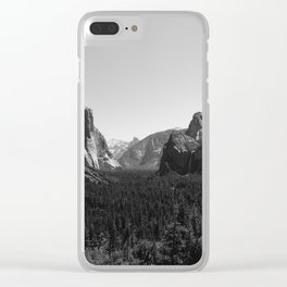 Tunnel View, Yosemite National Park III Clear iPhone Case