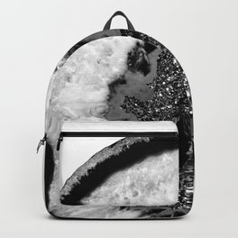 Gray Black White Agate Glitter Glamor #1 #gem #decor #art #society6 Backpack