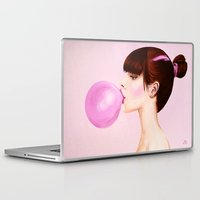 bubblegum Laptop & iPad Skins featuring Bubblegum by ObeyMyBrain