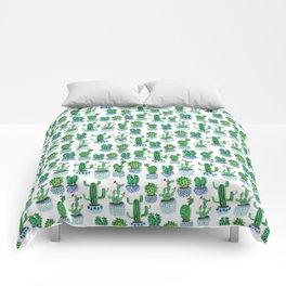 Cactus in Watercolor Comforters