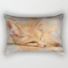 Artistic Animal Fennec Fox Rectangular Pillow