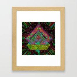 Gold Pyramid Landing Framed Art Print
