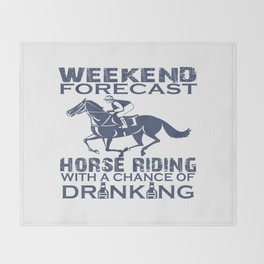 WEEKEND FORECAST HORSE RACING Throw Blanket