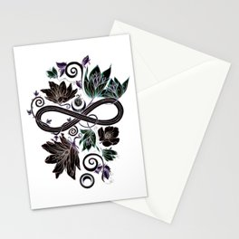 Infinity Moon Garden in Pastel at Midnight Stationery Cards