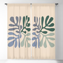 Matisse cutouts abstract drawing, Blackout Curtain