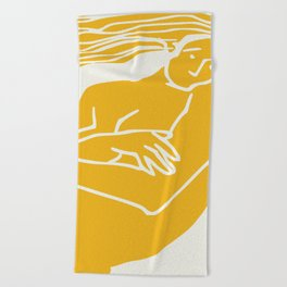 Figurative in yellow Beach Towel