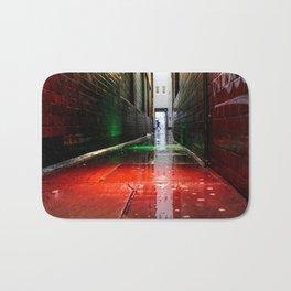 London street red green Bath Mat