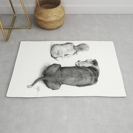 Friends for Life Dog and Child Rug