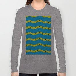 Coastal Pattern On the Beach Long Sleeve T-shirt