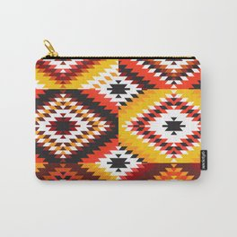 Colorful patchwork mosaic, oriental kilim rug Carry-All Pouch