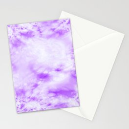 Bleached Purple Tie Dye Stationery Cards