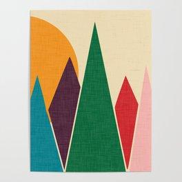 solar mountain #homedecor #midcentury Poster