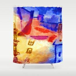 Paul Klee Sun in the Yard Shower Curtain