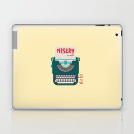 Misery, Horror, Movie Illustration, Stephen King, Kathy Bates, Rob Reiner, Classic book, cover Laptop & iPad Skin