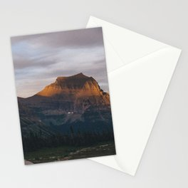 Sunset In Glacier Stationery Cards