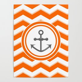 Chevron Anchor Poster