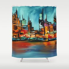City Scapes Shower Curtain