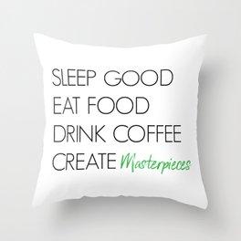 Create Masterpieces Throw Pillow