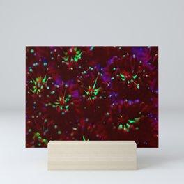 Red fluorescing polyps Mini Art Print