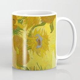 Sunflowers on Yellow Background Vincent Van Gogh Coffee Mug