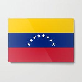 National flag of  Venezuela - Authentic version Metal Print