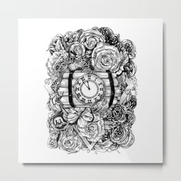Bomb in the flowers Metal Print