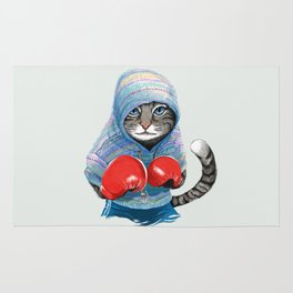 Boxing Cat Rug