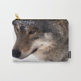 Wolf In the Snow Carry-All Pouch