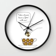 time for fika Wall Clock